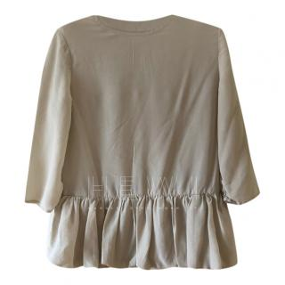 Stella McCartney Girls Silk Beige Top