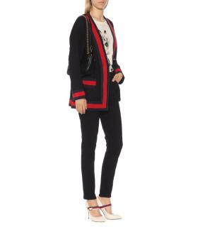 Gucci navy cotton blend twill cardigan