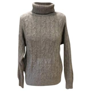 Harrods x N.Peal cashmere cable knit sweater