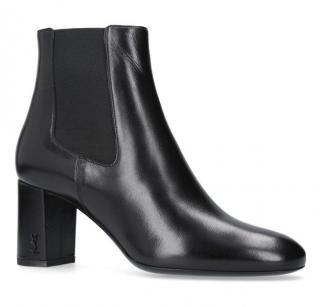 Saint Laurent Black Loulou Ankle Boots