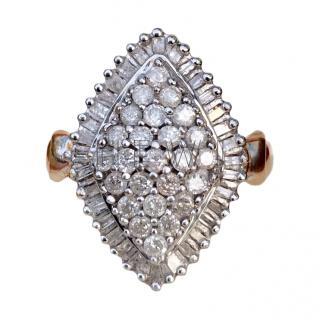 Bespoke Diamond Cluster Cocktail Ring