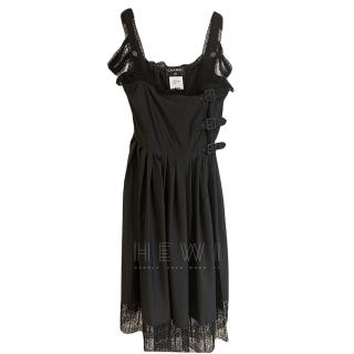 Chanel Black Silk & Lace Dress