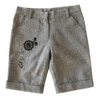 Ermanno Scervino Girl's chevron flannel bermuda shorts