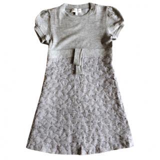 Simonetta Girl's Grey Jersey Dres