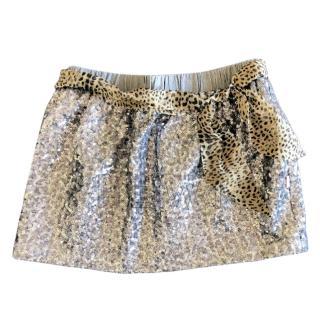 Roberto Cavalli Girl's Sequin Patterned Skirt