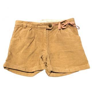Marie Chantal girls corduroy shorts