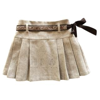 Il Gufo wool blend pleated skirt