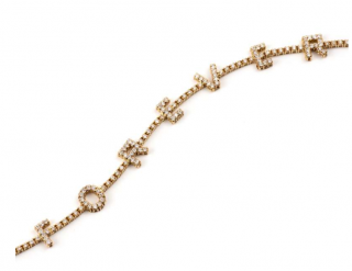 Bespoke 18k Rose Gold Diamond Forever Bracelet