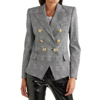 Balmain Houndstooth Double Breasted Jacket - New Season