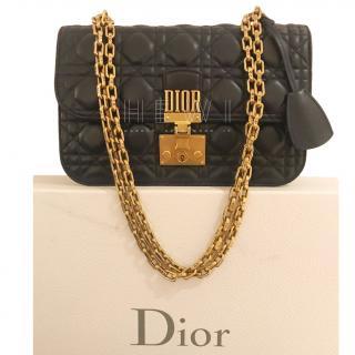 Dior Navy Cannage Leather Dioraddict Shoulder Bag
