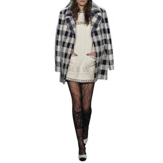 Chanel Pre-Fall 16' Black & White Check Coat