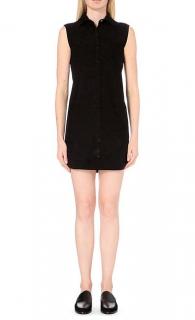 Maje Black Roller Suede Dress