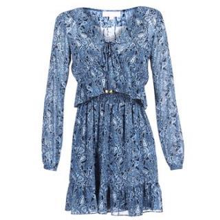 Michael Michael Kors Printed Blue Mini Dress