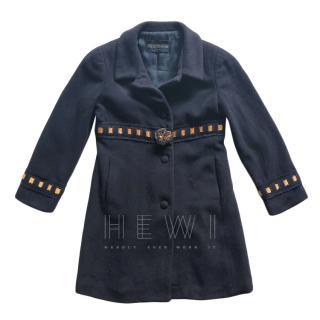 Ermanno Scervino girls 8 years wool coat