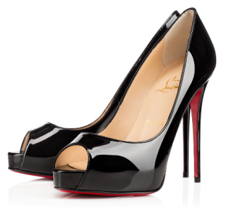 Christian Louboutin Black Very Prive 120 Patent Pumps