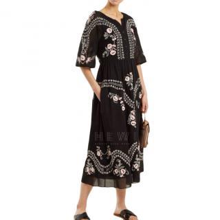 Vilshenko Black Embroidered Dress