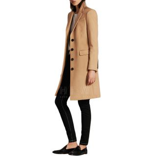 Burberry Tailored Wool Cashmere Coat in Camel