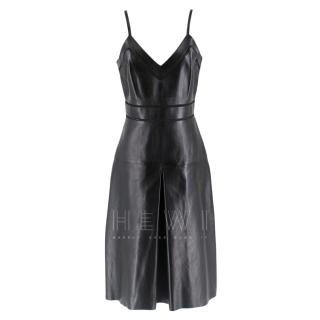 Gucci jour echelle black leather dress