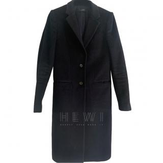 Joseph Navy Wool Single Breasted Coat
