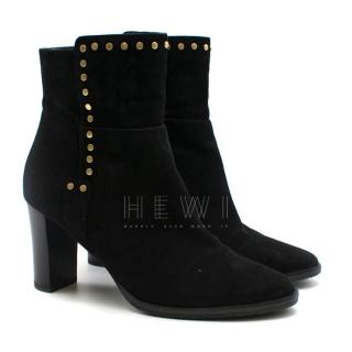 Jimmy Choo Suede Studded Ankle Boots