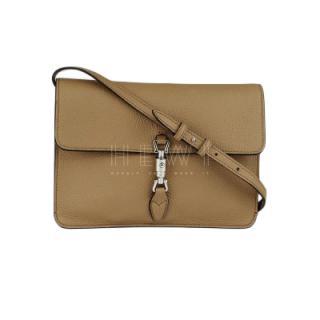 Gucci Beige Pebbled Leather Soft Jackie Convertible Mini Crossbody Bag