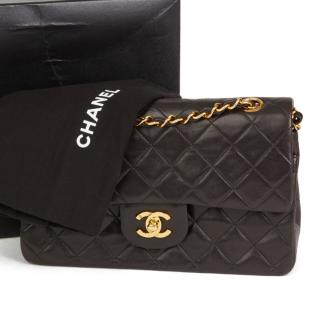 Chanel Vintage Small Black Classic Double Flap Bag