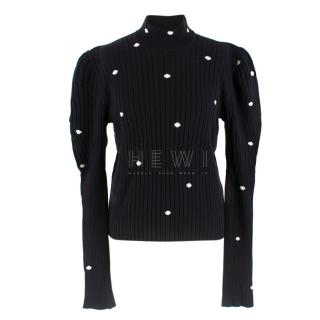 Giambattista Valli Ribbed Polka Dot Jumper