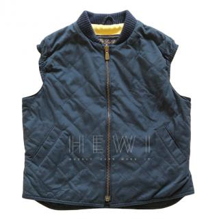 Loro Piana Navy Quilted Gilet