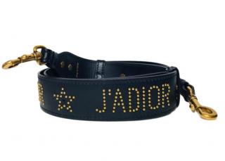 Dior Black J'adior Studded Black Bag Strap