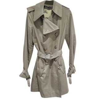 Burberry Grey Midi Trench