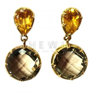 Fiorelli Citrine & Chocolate Topaz Earrings