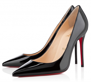 Christian Louboutin D�collet� 554 100 patent-leather pumps
