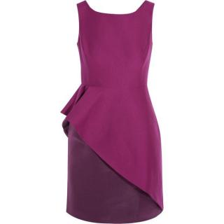 Halston Heritage panelled ruffle dress