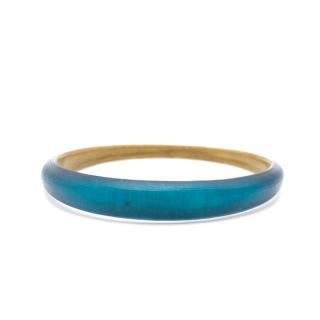 Alexis Bittar Blue Iridescent Tapered Bangle