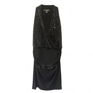 Lauren by Ralph Lauren black sequin dress