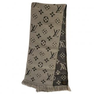 Louis Vuitton Reversible Wool & Silk Logomania Scarf