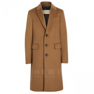 Burberry Men's Cashmere Camel Overcoat