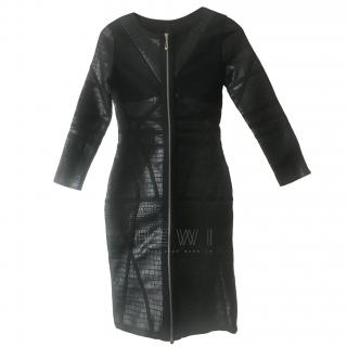 Gamze Saracoglu Croc Print Zip Front Dress
