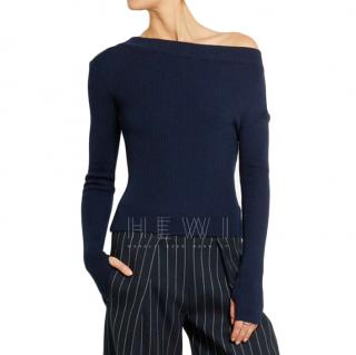 Jacquemus One-Shoulder Ribbed Wool Top