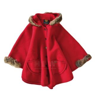 Lanamoden girl's 10-14y red wool cape