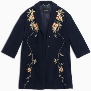 Max & Co. Floral Embroidered Wool Coat