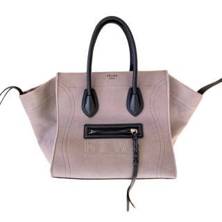 Celine Canas Storm Grey Phantom Luggage Tote