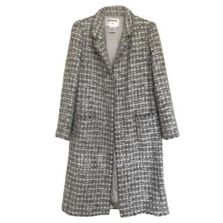 Chanel Runway Blue Tweed Coat