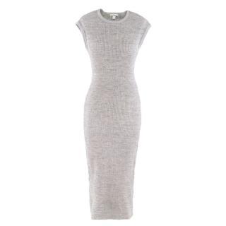 James Perse Grey Knit Midi Dress