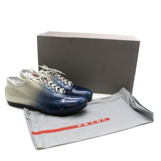 Prada Ombre Patent Leather Trainers