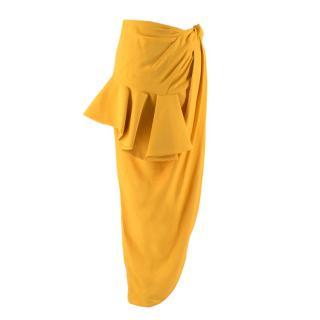 Jacquemus Yellow La Jupe Sole Skirt