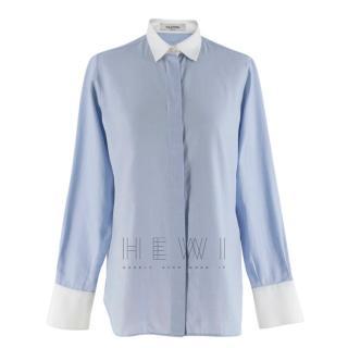 Valentino Blue & White Rockstud Shirt