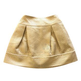 Simonetta Quilted Gold Skirt