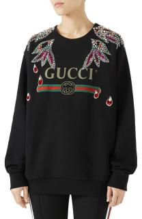 Gucci Embellished Logo Sweatshirt