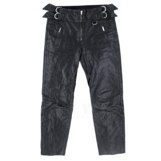 Isabel Marant Cropped Buckle Detail Leather Pants
